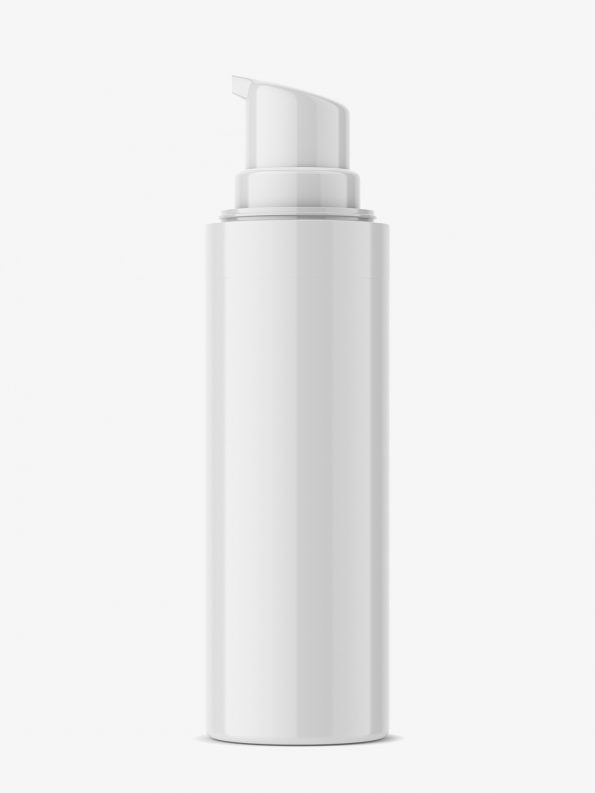 Glossy airless bottle mockup