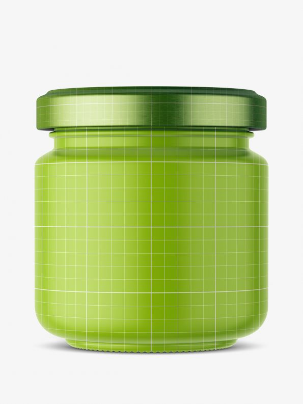 Marinated onions jar mockup