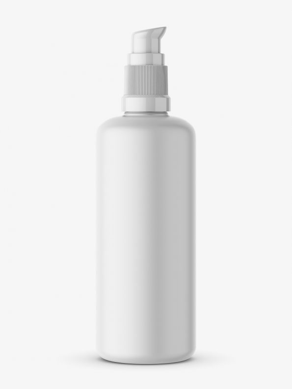 Matt bottle with push spray mockupMatt bottle with push spray mockup