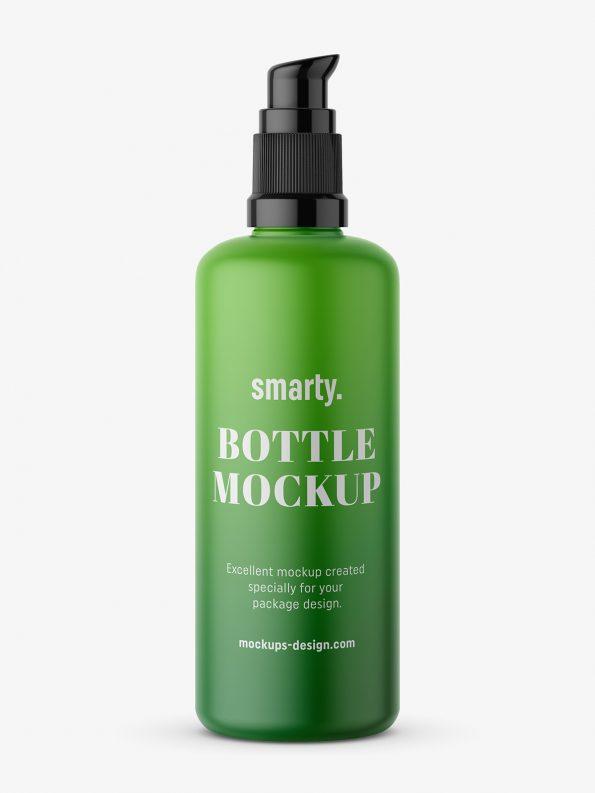 Matt bottle with push spray mockup