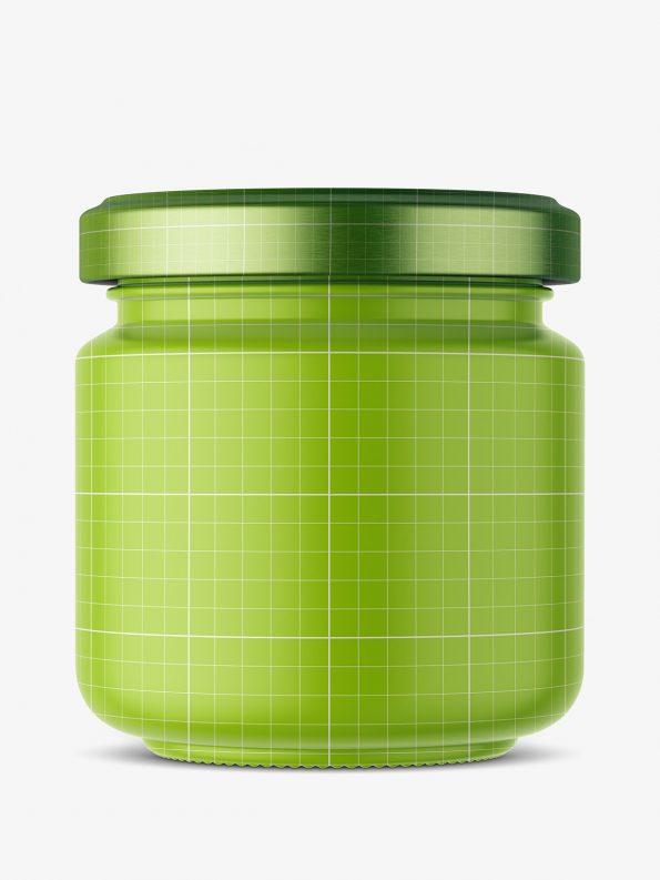 Tartar sauce jar mockup