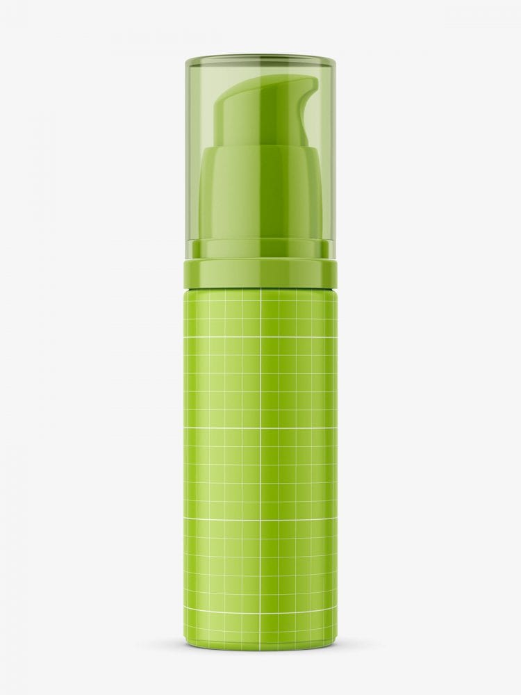 Airless cosmetic bottle mockup