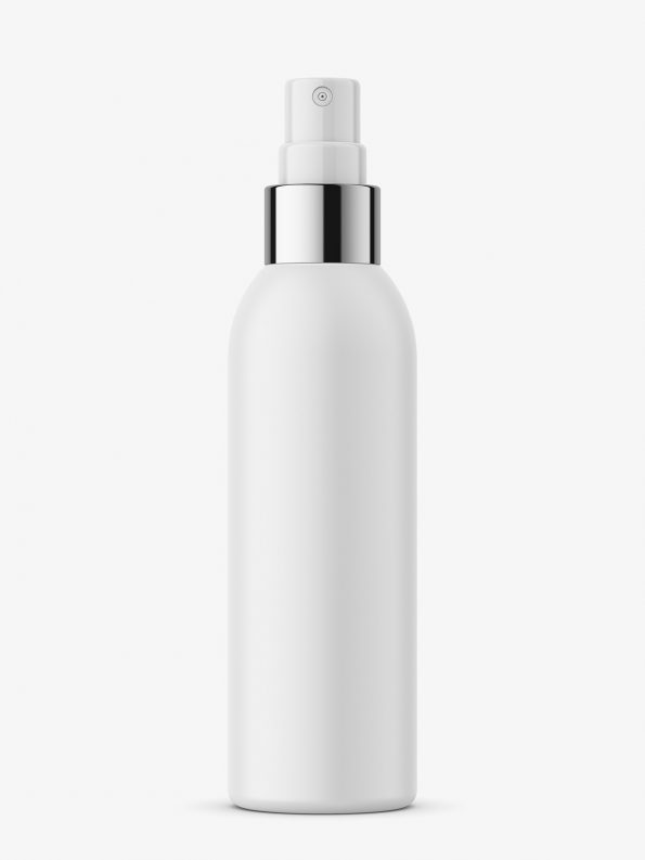 Matt spray pump bottle mockup