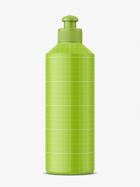 Bottle with push / pull dispenser mockup