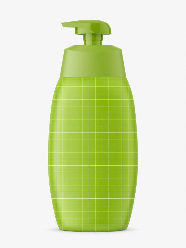 Matt baby oil bottle with pump mockup