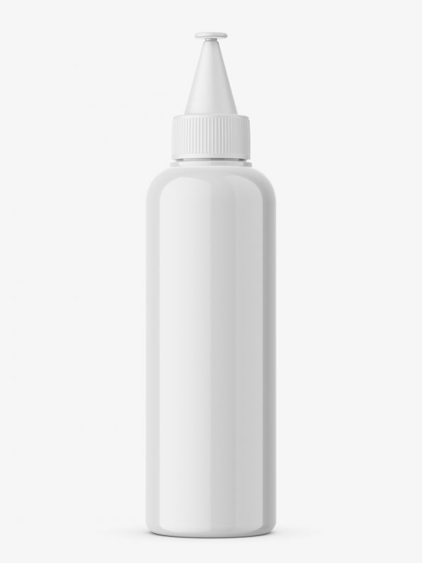 Glossy applicator bottle mockup