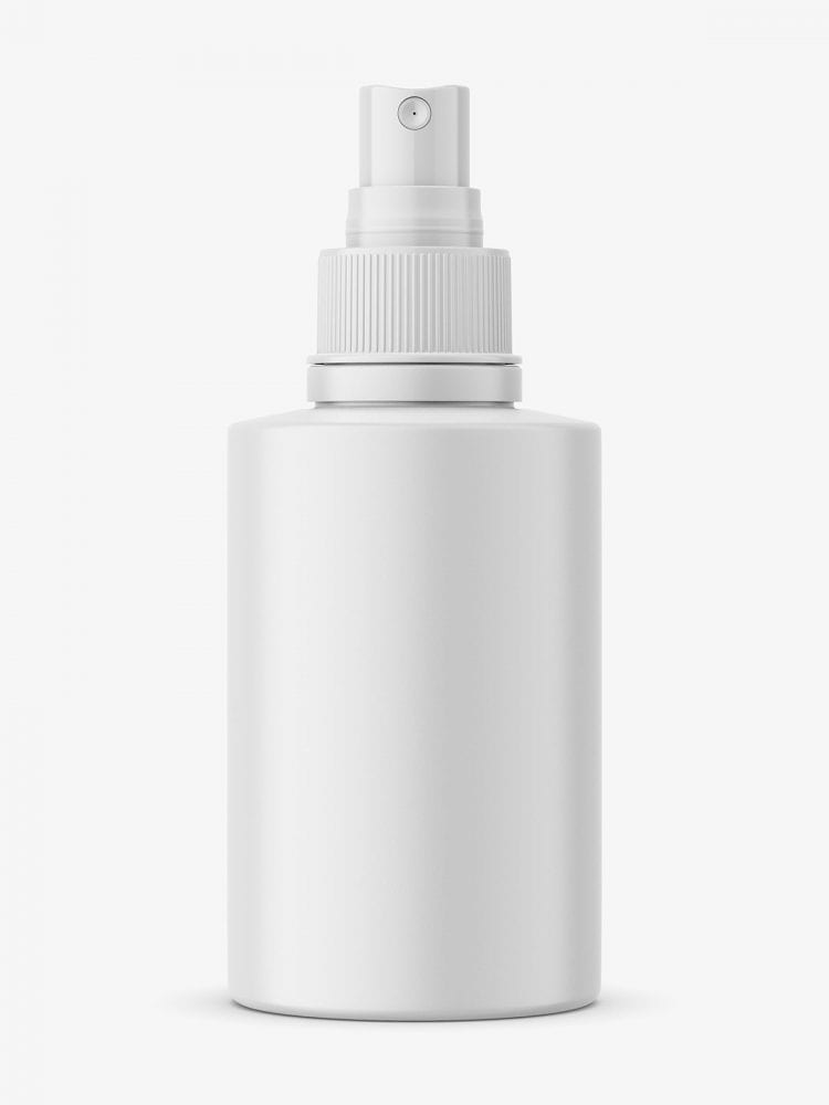 Small matt bottle with push spray mockup