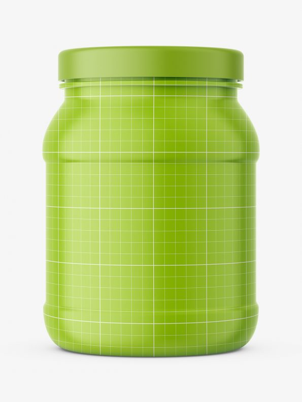 Matt shake powder jar mockup