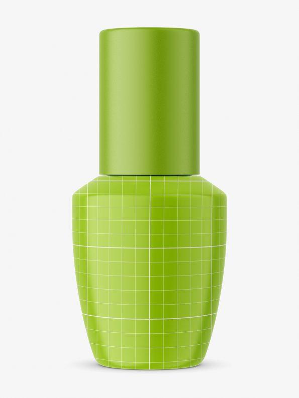Nail polish with matt cap mockup