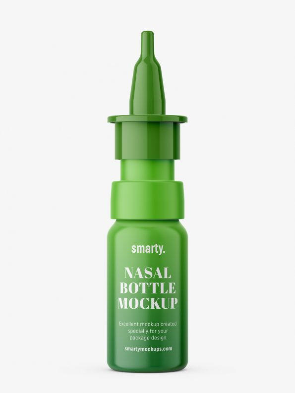 Plastic nasal bottle mockup
