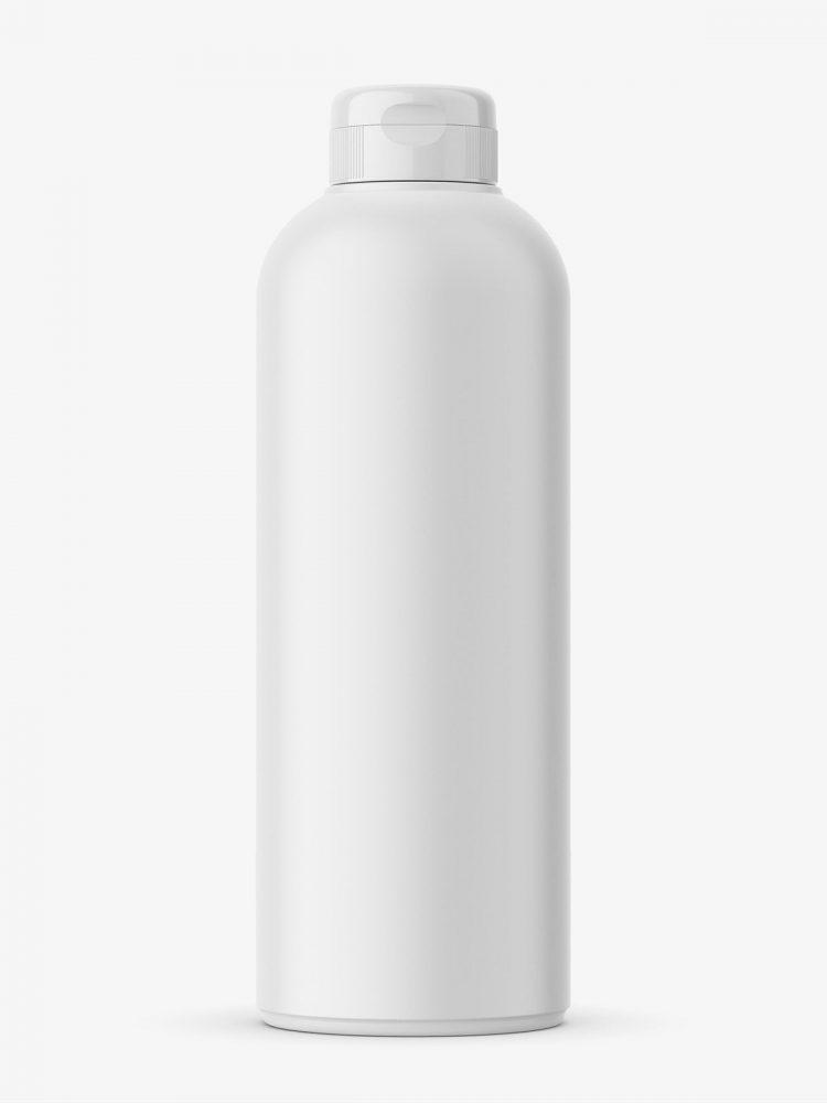 Matt cosmetic bottle mockupMatt cosmetic bottle mockup