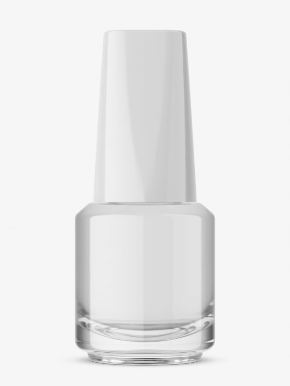 Transparent nail polish bottle mockup
