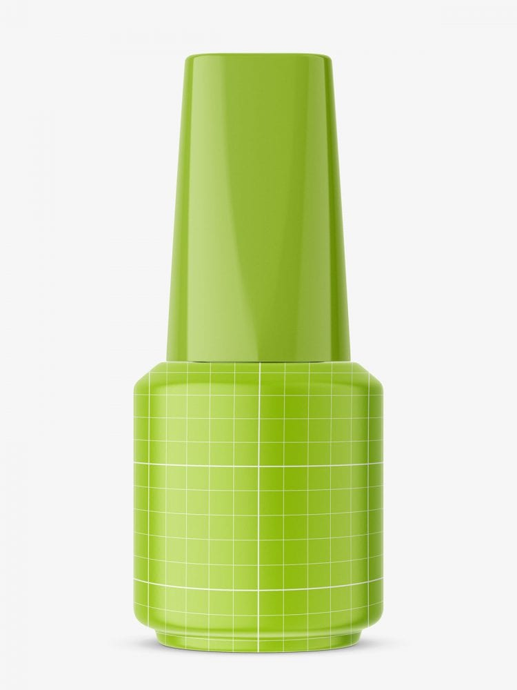 Transparent nail polish bottle mockup
