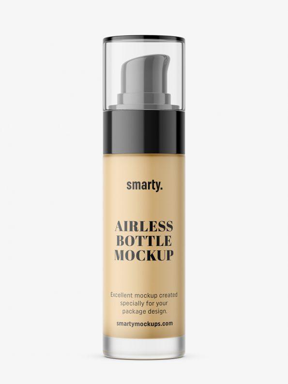 Airless bottle foundation mockup