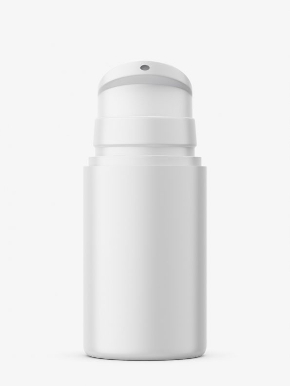 Matt airless jar with pump