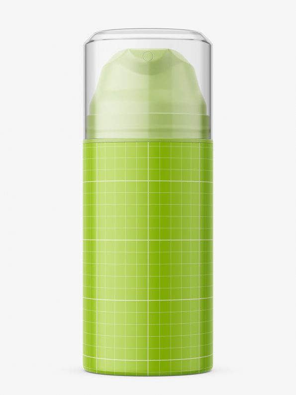 Matt airless jar with pump