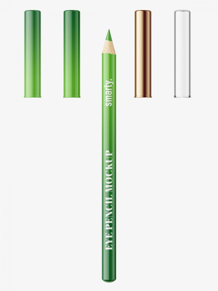 Glossy eye pencil mockup