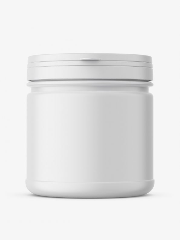 Supplement jar mockup / Matt