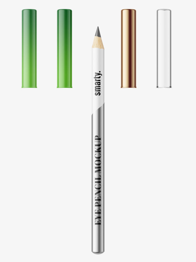 Metallic eye pencil mockup