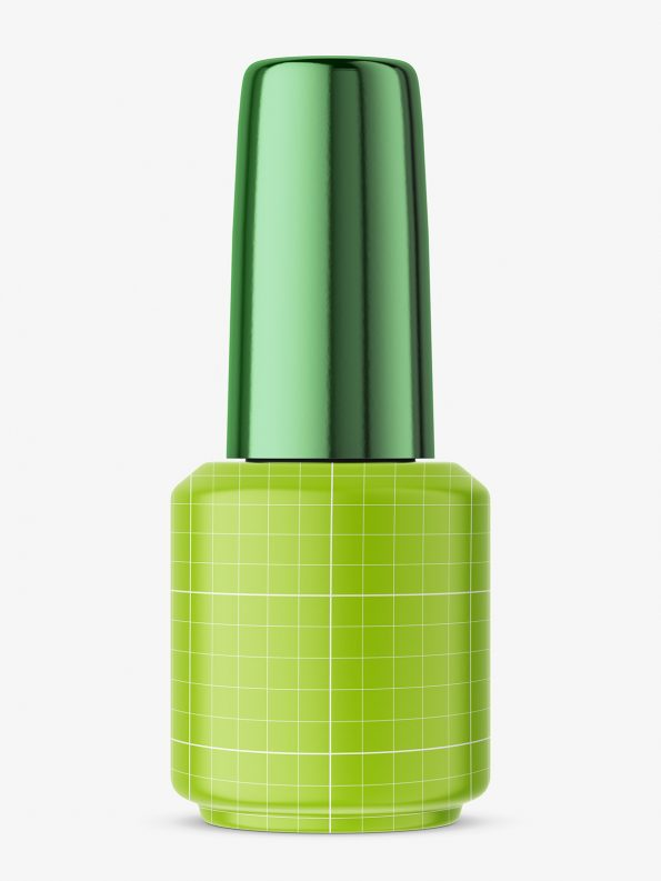 Metallic nail polish bottle mockup
