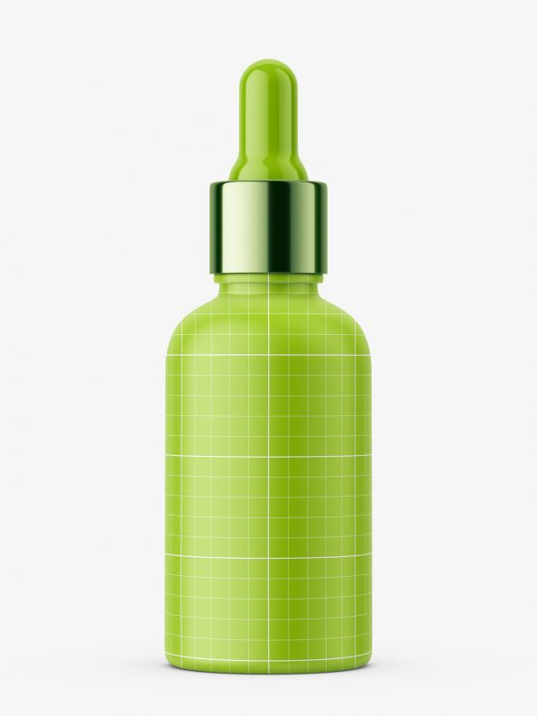 Matt plastic bottle with silver dropper / 50 ml