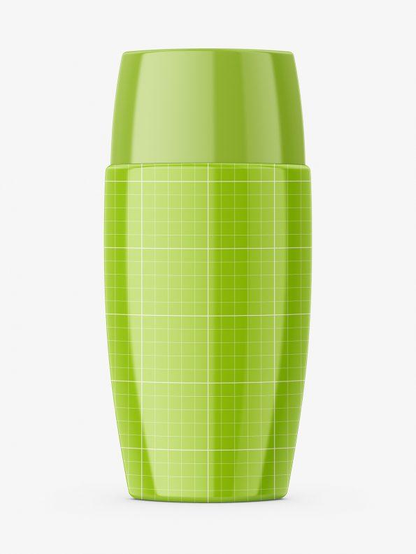 Glossy cosmetic cream bottle mockup
