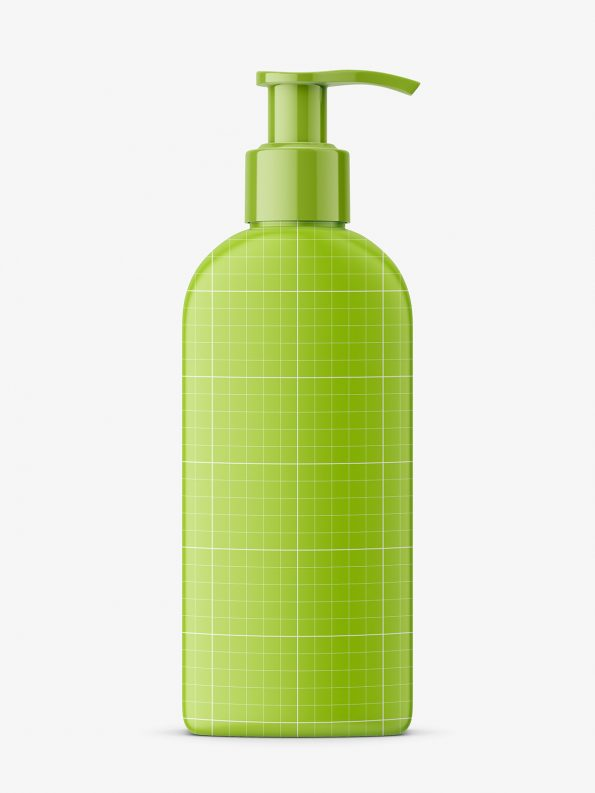 Rectangle bottle with pump mockup / matt