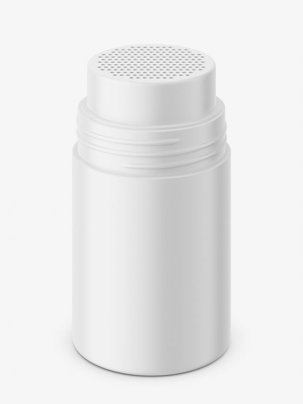 Matt powder jar mockup