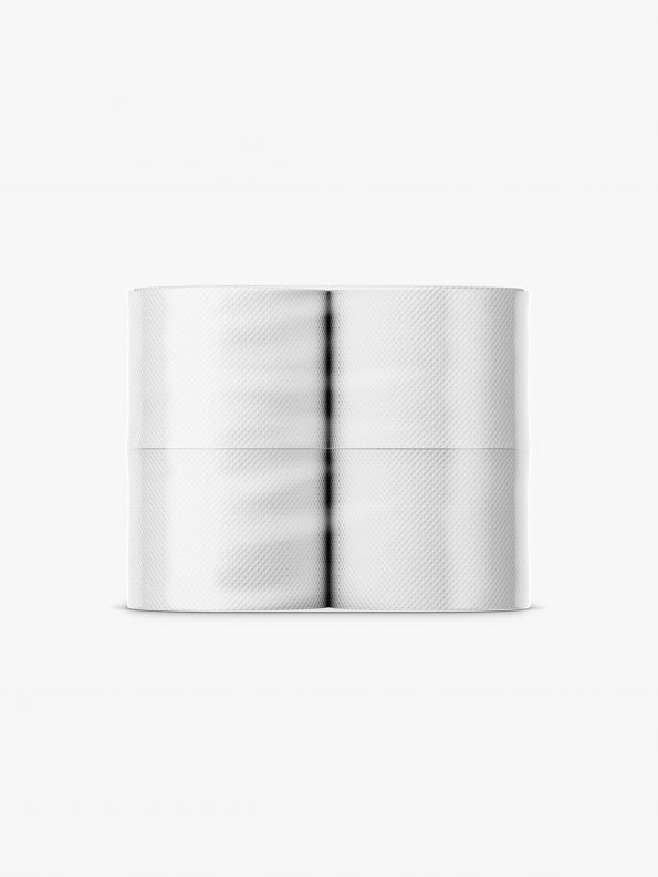 Toilet paper mockup / 4 rolls