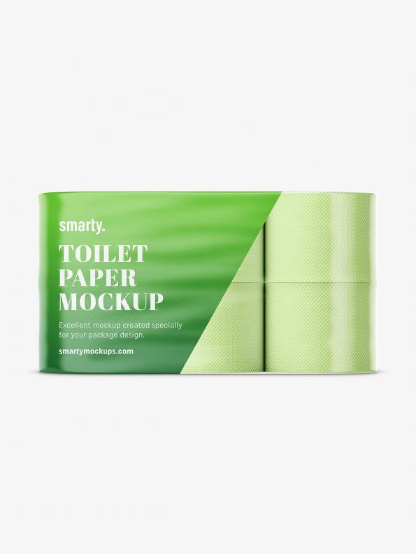 Toilet paper mockup / 6 rolls