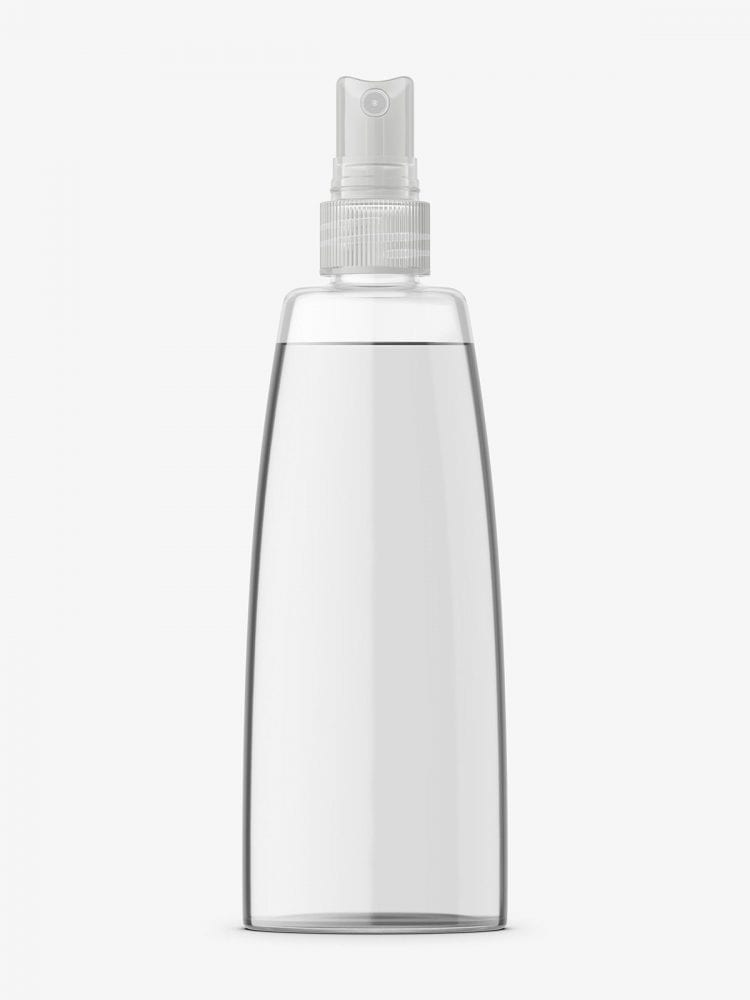 Narrowing bottle mockup / transparent