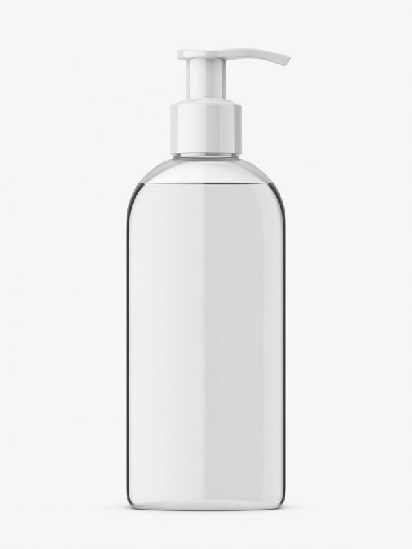 Glossy cosmetic cream bottle mockup