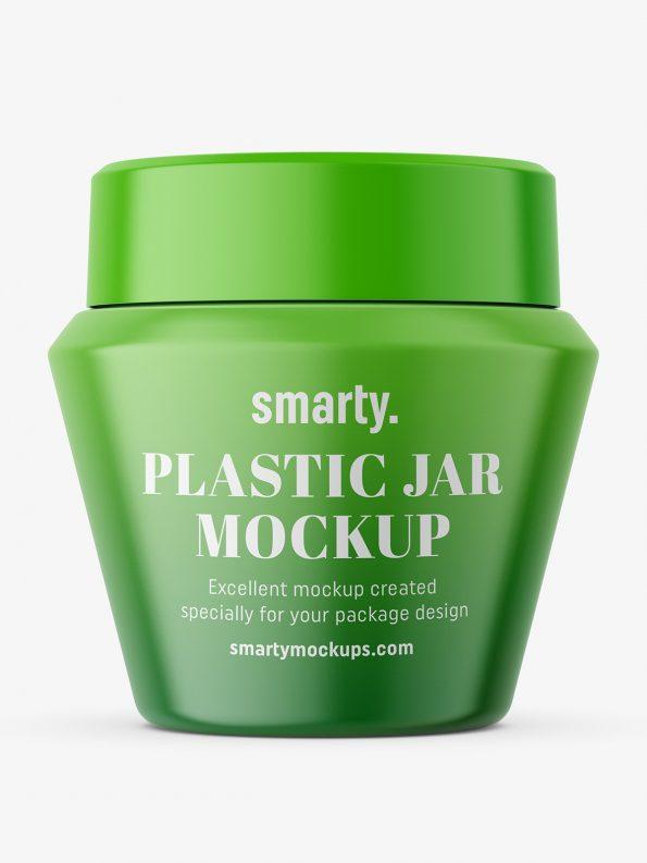 Narrowing matt jar mockup