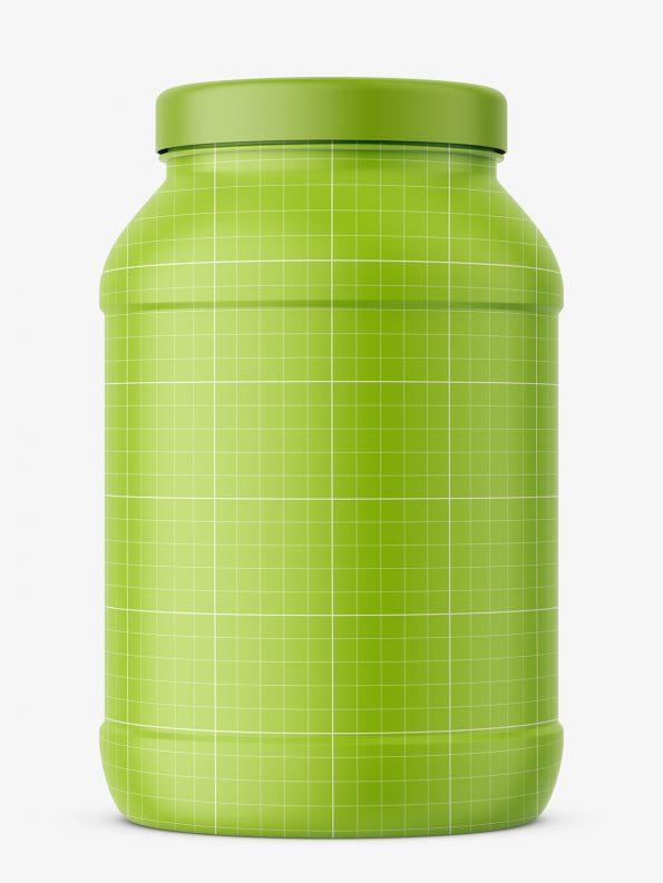 Supplement jar mockup / matt
