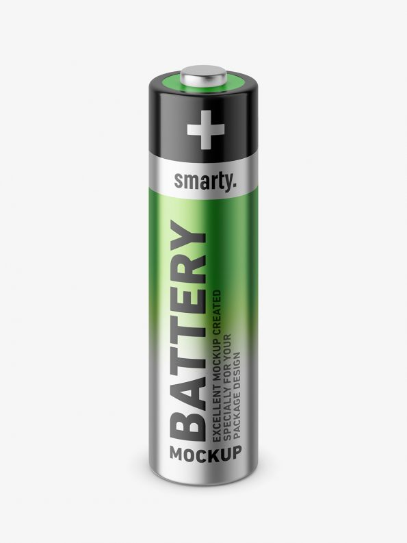 Single battery mockup