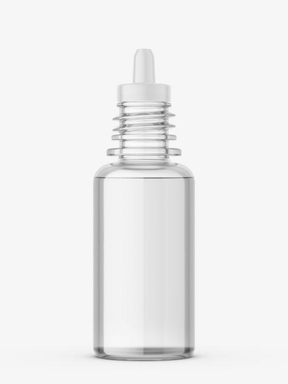Transparent dropper bottle mockup