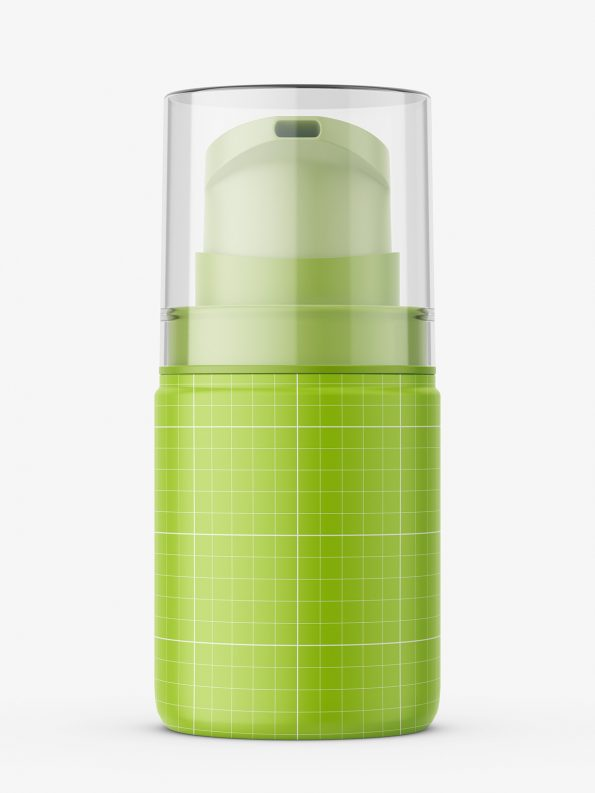 Small airless bottle mockup