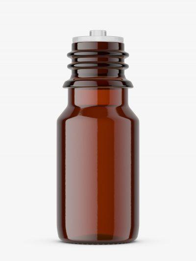 Small amber dropper bottle mockup