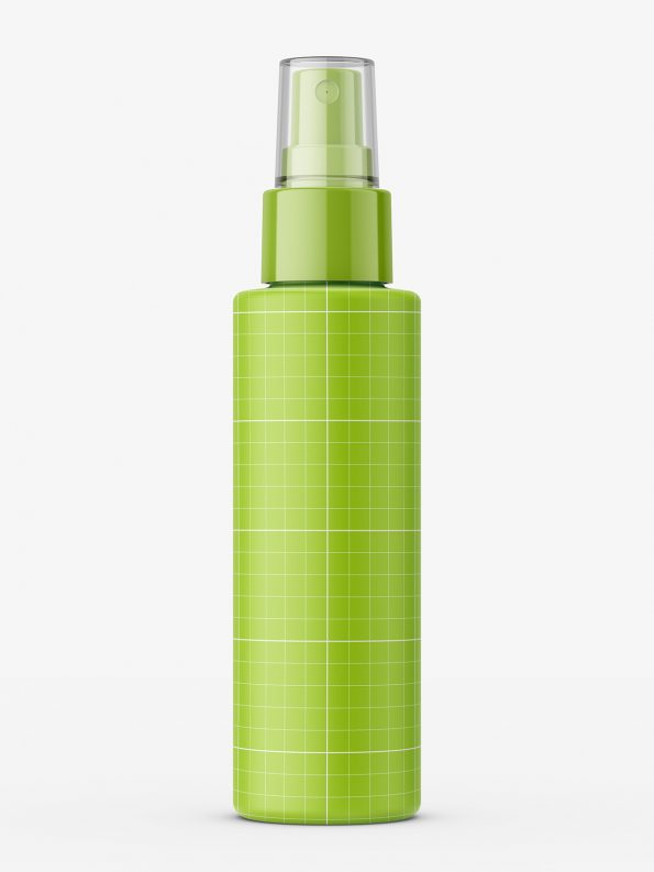 Amber mist spray bottle mockup