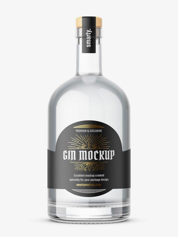 Dry gin bottle mockup