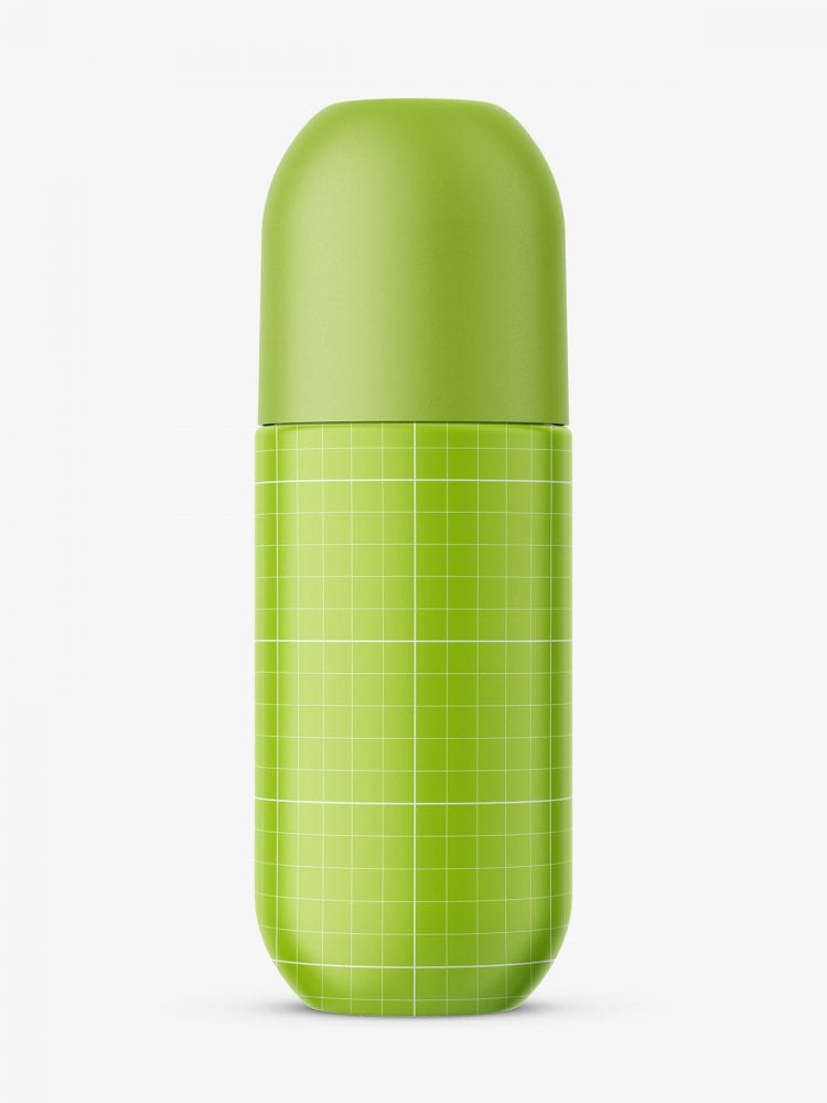 Glass roll-on bottle mockup