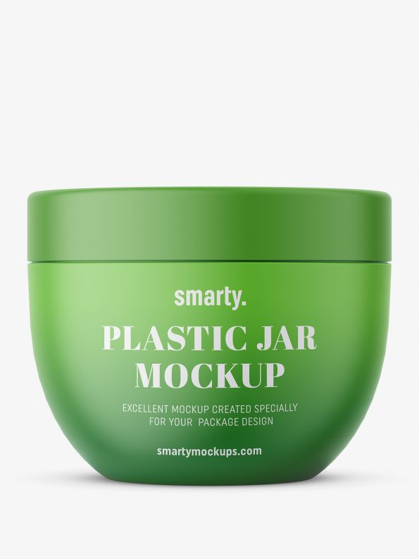 Round jar mockup