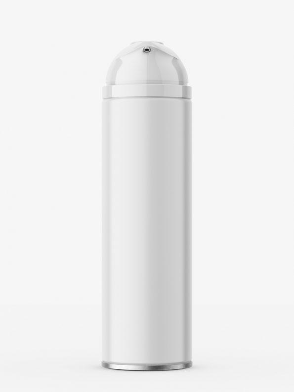 Shave foam bottle mockup