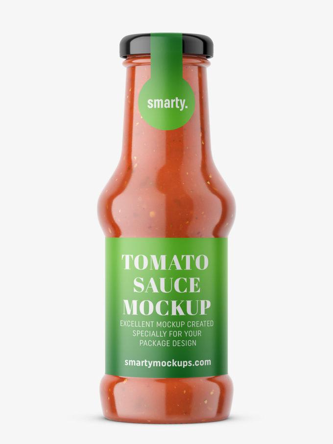 Tomato pasta jar mockup