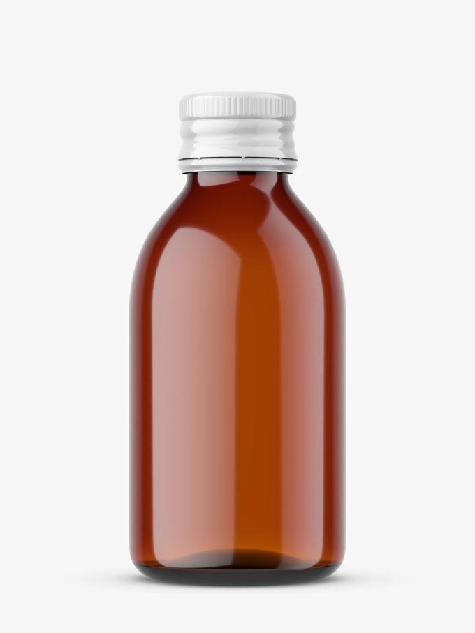 Pharmacy amber bottle mockup