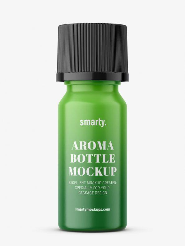 Small plastic aroma bottle mockup