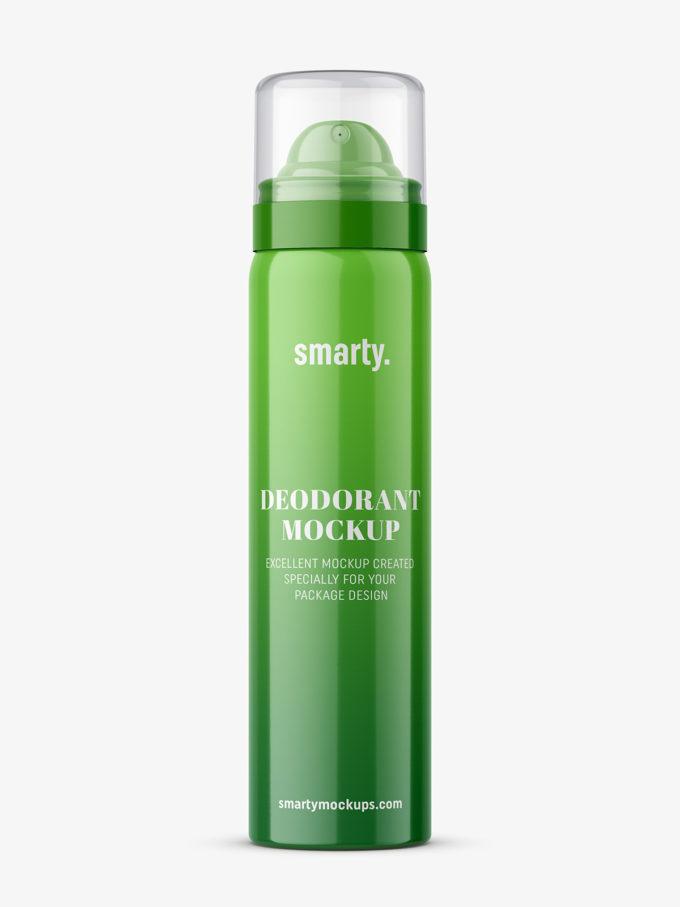 Glossy deodorant bottle mockup