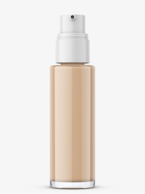 Glass matt foundation bottle mockup