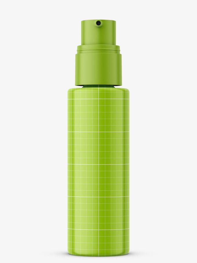Glass matt foundation bottle mockup