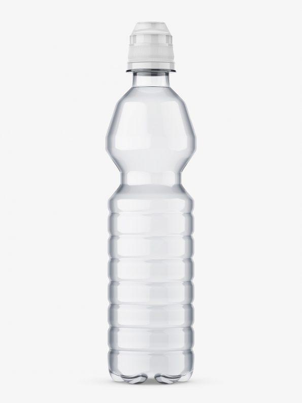 Clear mineral water bottle mockup